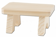 """KWO Authentic German Smoker Accessory - """"Wood Bench for Sitting Smokers"""""""