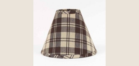 "Lamp Shade - ""Brown Plaid"" - 6"""