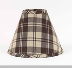 "Lamp Shade - ""Brown Plaid Lamp Shade"" - 10"""