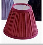 "Lamp Shade - ""Burgundy Pleated Lamp Shade"" - 4"""