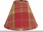 "Lamp Shade - ""Cedar Park Plaid Lamp Shade"" - 6"""