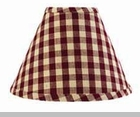 "Lamp Shade - ""Heritage House Barn Red Lamp Shade"" - 6"""