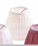 "Lamp Shade - ""Ivory Pleated Lamp Shade"" - 4"""