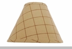 "Lamp Shade  - ""Kingston Check Lamp Shade"" - 10"""