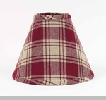 "Lamp Shade - ""Red Plaid Lamp Shade"" - 10"""