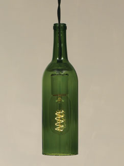 "Lamp - ""Wine Bottle Pendant � Emerald Green"""