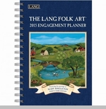 "Lang 2015 Engagement Planner - ""Lang Folk Art"" - Artist  Mary Singleton"