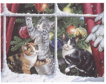 """Lang Boxed Christmas Cards - """"Chasing Snowflakes""""  - Artist Persis Clayton Weirs"""