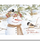 "Lang Boxed Christmas Cards  - ""Chickadee Snowman""  - Jane Shasky"