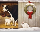"Lang Boxed Christmas Cards - ""Christmas Day"" - Artist Lowell Herrero"