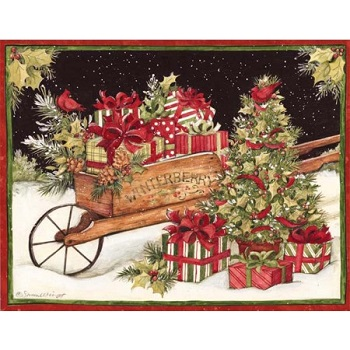 "Lang Boxed Christmas Cards - ""Christmas Delivery "" - Artist Susan Winget"