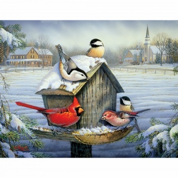 "Lang Boxed Christmas Cards - ""Christmas Dinner"" - Artist Sam Timm"