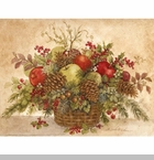 "Lang Boxed Christmas Cards - ""Christmas Pine Basket"" -  Artist Betty Whiteaker"
