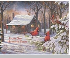 "Lang Boxed Christmas Cards - ""Cozy Winter Cabin"" - Artist Sam Timm"