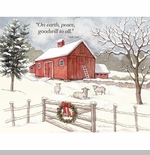 "Lang Boxed Christmas Cards - ""Falling Snow"" -  Artist Betty Whiteaker"