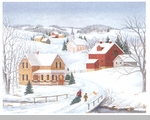 "Lang Boxed Christmas Cards  - ""Fresh Snow For Christmas"" - Artist Colleen Eubanks"
