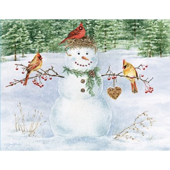 "Lang Boxed Christmas Cards - ""Happy Snowman"" - Artist Jane Shasky"