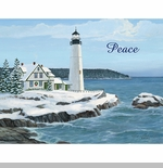 "Lang Boxed Christmas Cards  - ""Harbor Light"" - Artist Persis Clayton Weirs"