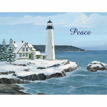 """Lang Boxed Christmas Cards  - """"Harbor Light"""" - Artist Persis Clayton Weirs"""