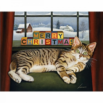 "Lang Boxed Christmas Cards - ""Lucy Mclain"" - Artist Lowell Herrero"