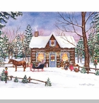 "Lang Boxed Christmas Cards - ""Magical Evening"" - Artist Laura Berry"