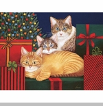 "Lang Boxed Christmas Cards  - ""Marla, Buster and Edna Williams"" -  Artist Lowell Herrero"