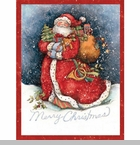 "Lang Boxed Christmas Cards - ""Merry Santa"" - Artist Susan Winget"