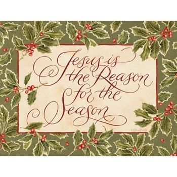 "Lang Boxed Christmas Cards - ""Reason For The Season"" - Artist Jane Shasky"