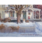"Lang Boxed Christmas Cards - ""Snow Day""  - Artist Paul Landry"