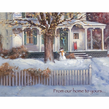"""Lang Boxed Christmas Cards - """"Snow Day""""  - Artist Paul Landry"""