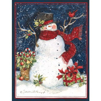"Lang Boxed Christmas Cards - ""Snowman Scarf"" - Artist Susan Winget"