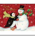"Lang Boxed Christmas Cards - ""The Snowman Dance"" - Artist Susan Winget"