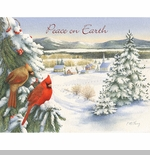 "Lang Boxed Christmas Cards - ""Watching Over The Village""  -  Artist Catherine McClung"