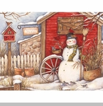 "Lang Boxed Christmas Cards  - ""Winter Barn""- Artist Susan Winget"