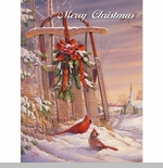 "Lang Boxed Christmas Cards - ""Wintertime Cardinal"" - Artist  Sam Timm"