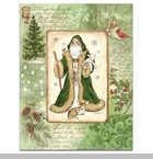 "Lang Boxed Christmas Cards - ""Woodland Santa"" - Artist Betty Whiteaker"