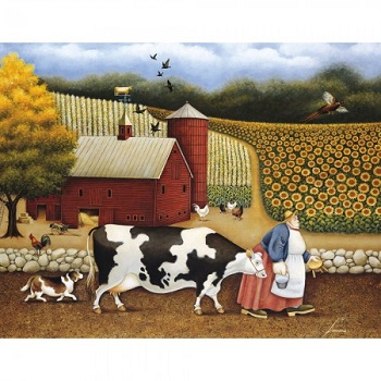 "Lang Boxed Notecards - ""Aunt Sadie's Farm"" - Artist Lowell Herrero"