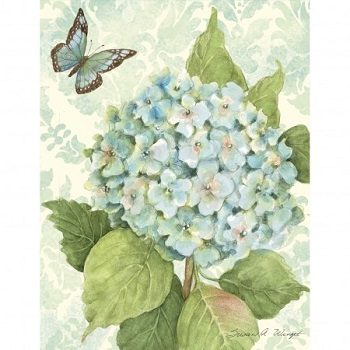 "Lang Boxed Notecards - ""Blue Hydrangea"" - Artist  Susan Winget"