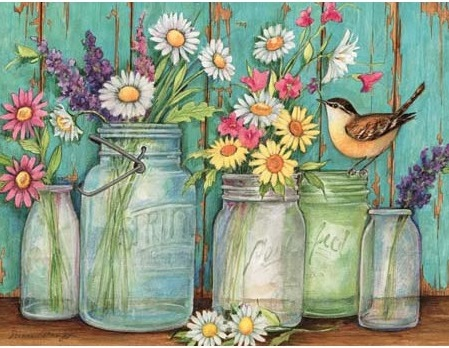 "Lang Boxed Notecards - ""Flower Jar"" - Artist Susan Winget"
