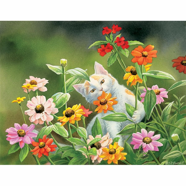 "Lang Boxed Notecards - ""Please Don't Eat The Zinnias"" - Artist  Susan  Bourdet"