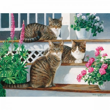 "Lang Boxed Notecards - ""Sleepy Cats"" - Artist Persis Clayton"