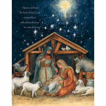 "Lang Boxed Religious Christmas Cards  - ""Holy Family"" - Artist Susan Winget"