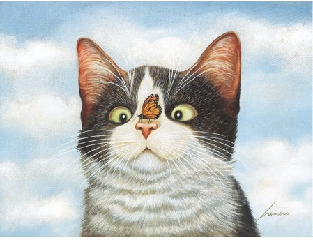 "Lang Deluxe Boxed Note Cards - ""American Cat"" - Artist Lowell Herrero"