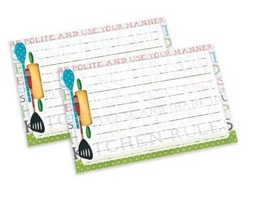 """Lang Recipe Cards - """"Kitchen Rules"""""""