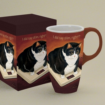 "Lang & Wise Latte Mug - ""Stretch Kelly"" - Artist Lowell Herrero"