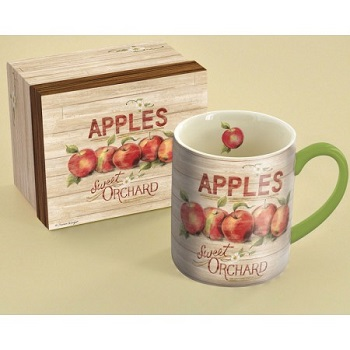 "Lang & Wise Mug - ""Apple Orchard"" - Artist Susan Winget"