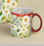 "Lang & Wise Mug  - ""Brand New Day"" - Artist  Karen H Good"