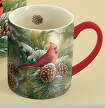 "Lang & Wise Mug - ""December Dawn Cardinal"" - Artist Rosemary Millette"
