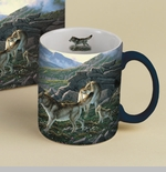 "Lang & Wise Mug  - ""Family Wolf Pack"" - Artist  Michael Sieve"