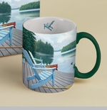 "Lang & Wise Mug - ""Lakeside Retreat"" - Artist David Ward"